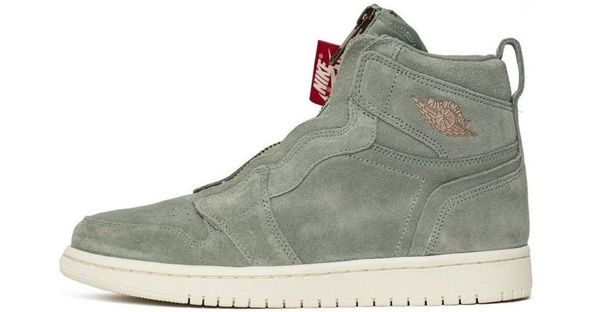 836f2fc862d46 Nike Wmns Air Jordan 1 High Zip Women's Shoes (high-top Trainers) In Grey  in Gray - Lyst
