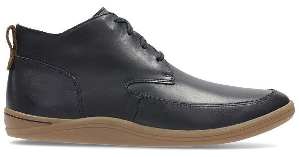 1121b8fe Clarks Mapped Hi Navy Men's Shoes (high-top Trainers) In Black for men