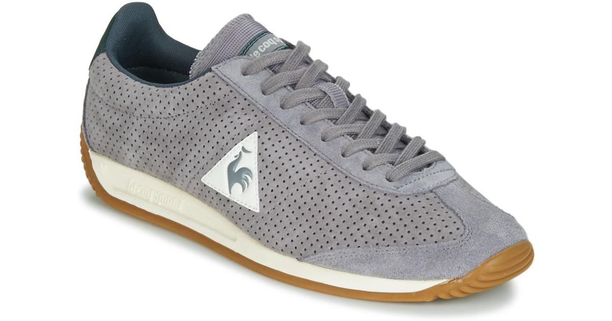 butik wyprzedażowy Nowa kolekcja niska cena Le Coq Sportif Gray Quartz Perforated Nubuck Men's Shoes (trainers) In Grey  for men