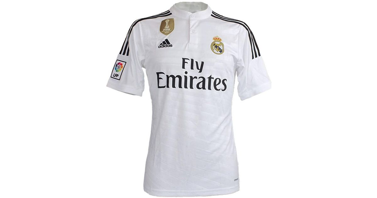 innovative design b50be 7a510 Adidas Originals - Real Madrid Home Jersey Men's T Shirt In White for Men -  Lyst