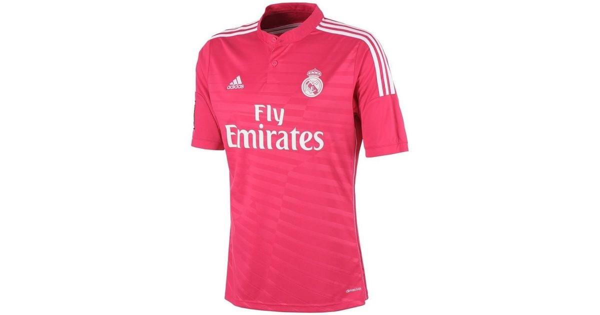 reputable site ca02c 61d21 Adidas 2014-15 Real Madrid Away Shirt (ronaldo 7) - Kids Women's T Shirt In  Pink