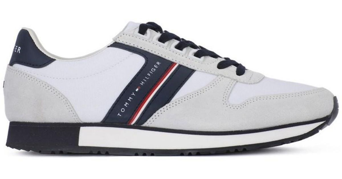8600e9f4dd93eb Tommy Hilfiger Iconic Mix Men s Shoes (trainers) In White in White for Men  - Lyst