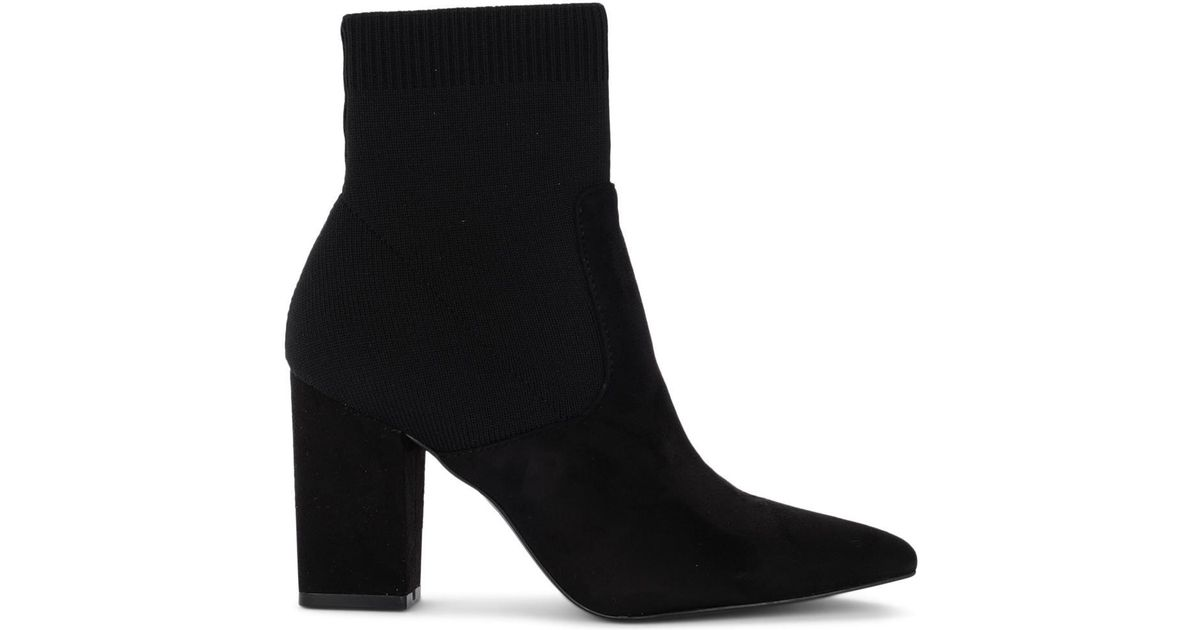 173647082d7 Steve Madden Black Fabric Ankle Boots