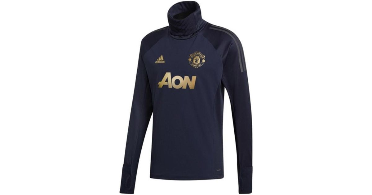Manchester United UCL Training Top Navy Kids adidas