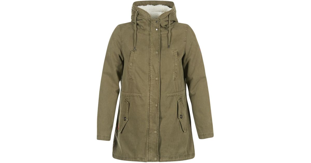 113e5cc170bfa Superdry Rookie Military Sherpa Women's Parka In Green in Green - Lyst