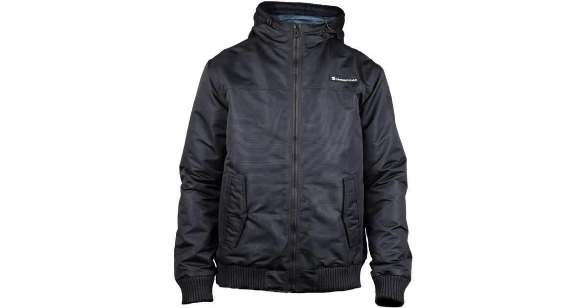 Caterpillar Cat Lifestyle Mens Fulton Insulated Water Resistant Jacket Mens In Black For Men