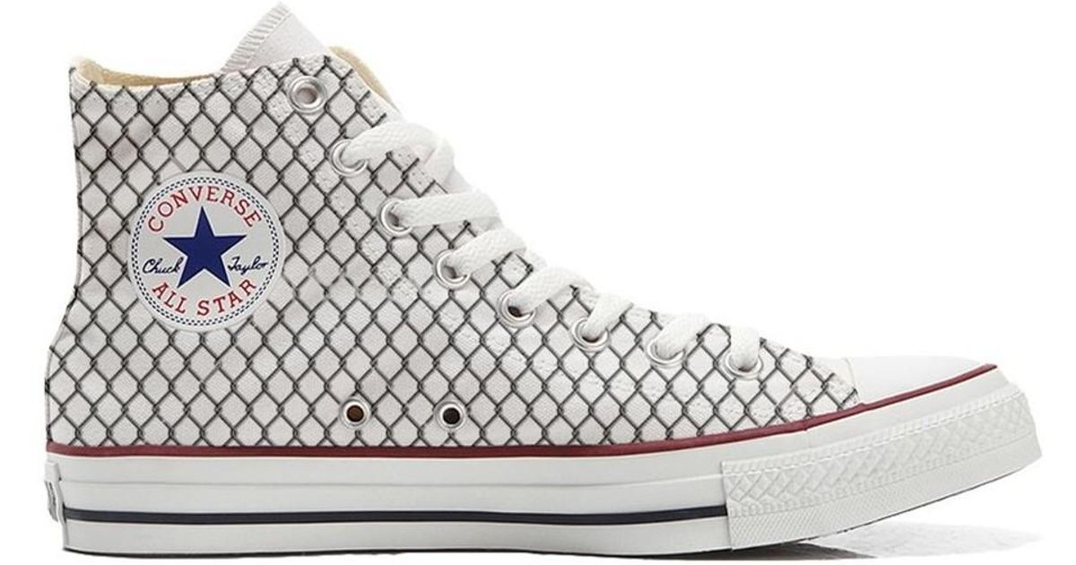 aaef1812e353dc Converse Original Customized With Printed Italian Style Handmade Shoes Ne  Women s Shoes (high-top Trainers) In White in White - Lyst