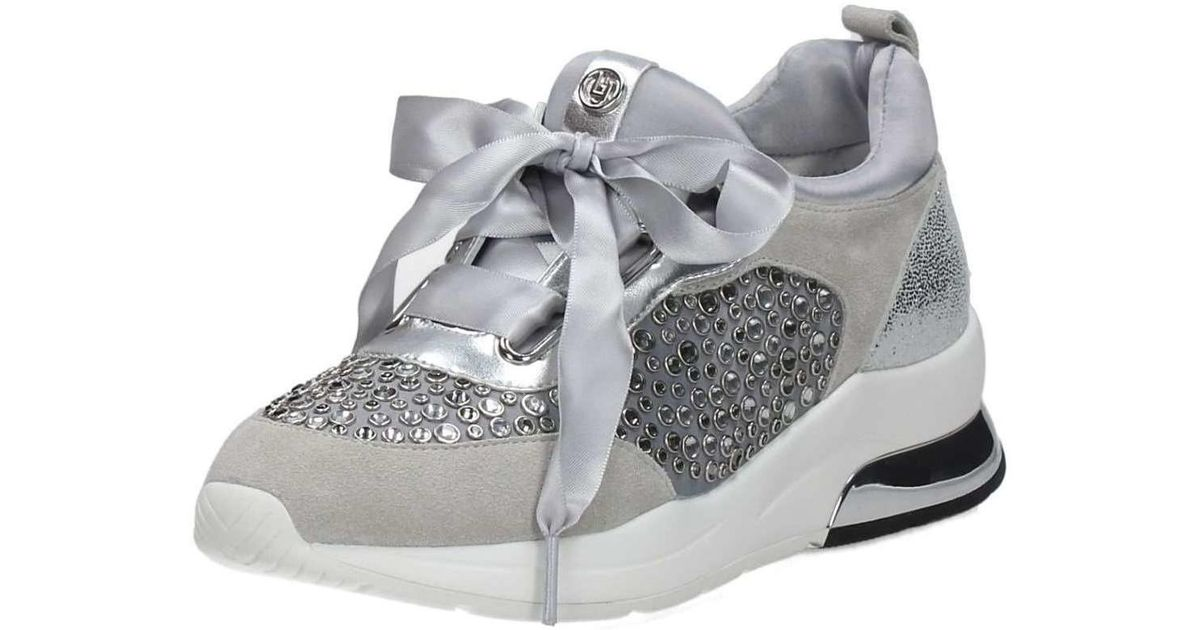 quality design 08919 f368f Liu Jo Metallic B18013t2037 Sneakers Women's Shoes (trainers) In Silver