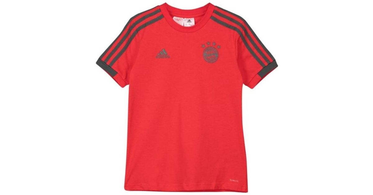 Adidas 2018-2019 Bayern Munich Training Tee - Kids Women s T Shirt In Red in  Red - Lyst 98ece570d