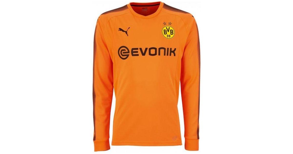 8e9891f987f PUMA 2017-2018 Borussia Dortmund Away Goalkeeper Shirt Men's In Orange in  Orange for Men - Lyst