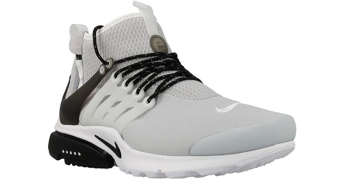 new concept ade64 06aa8 Nike Air Presto Mid Util Men's Shoes (high-top Trainers) In Black for men