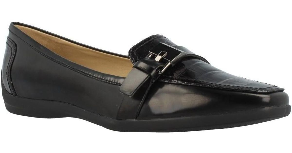 Supervivencia Ciudad Menda semiconductor  Geox D Kalinda A Women's Loafers / Casual Shoes In Black - Lyst