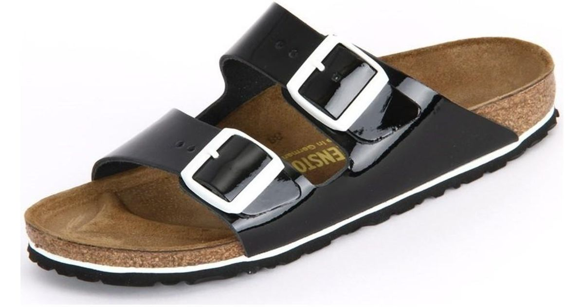 Birkenstock Arizona Black Patent Lack Leder Women s Mules   Casual Shoes In  Multicolour in Black - Lyst a86d27bbb6