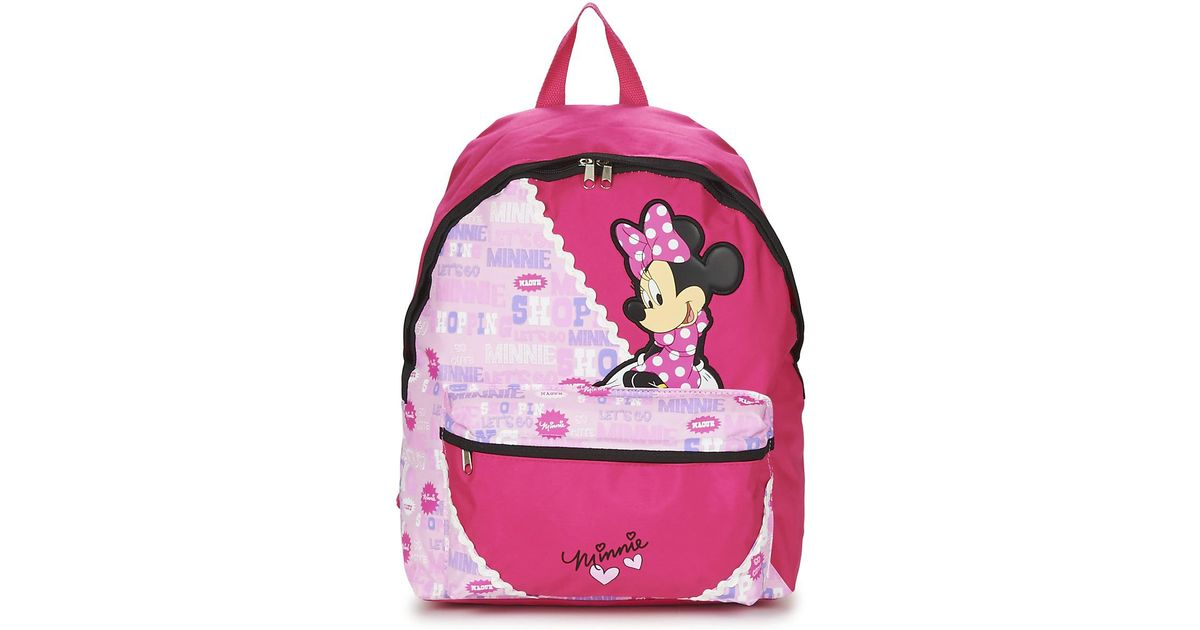 Disney Minnie Scratch Dots Sac A Dos Borne Girls S Children S Backpack In Pink