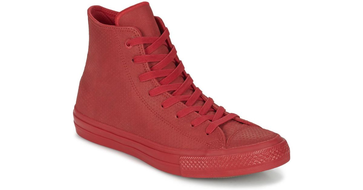 Red Converse Converse Chuck Taylor All Star Lux Leather