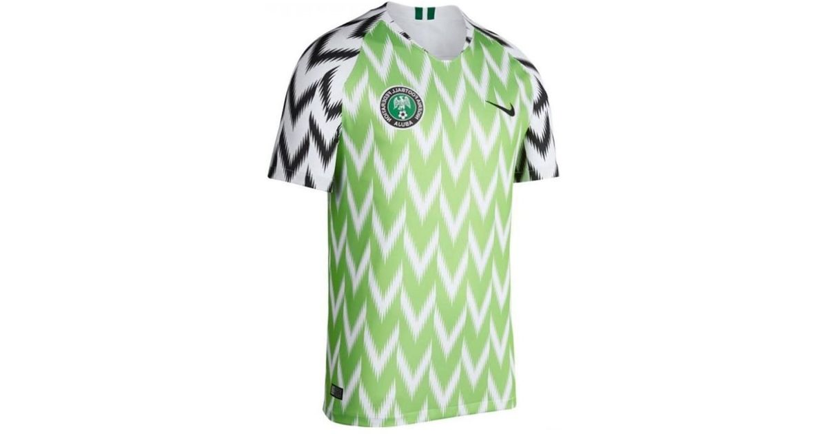 finest selection bb25c a1cf4 Nike 2018-2019 Nigeria Home Football Shirt Men's T Shirt In Green for men
