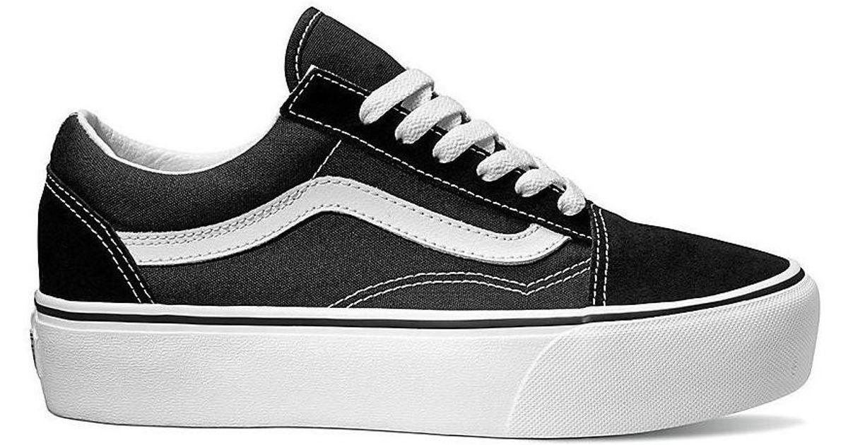 4cfc5295d9a5f Vans Zapatillas Old Skool De Plataforma Women s Shoes (trainers) In Black  in Black - Lyst