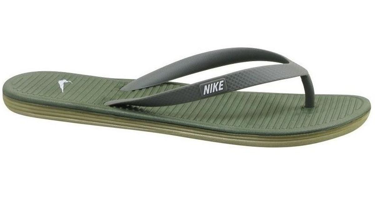 Síguenos calcular su  Nike Solarsoft Thong Ii Men's Flip Flops / Sandals (shoes) In Multicolour  in Green for Men - Lyst