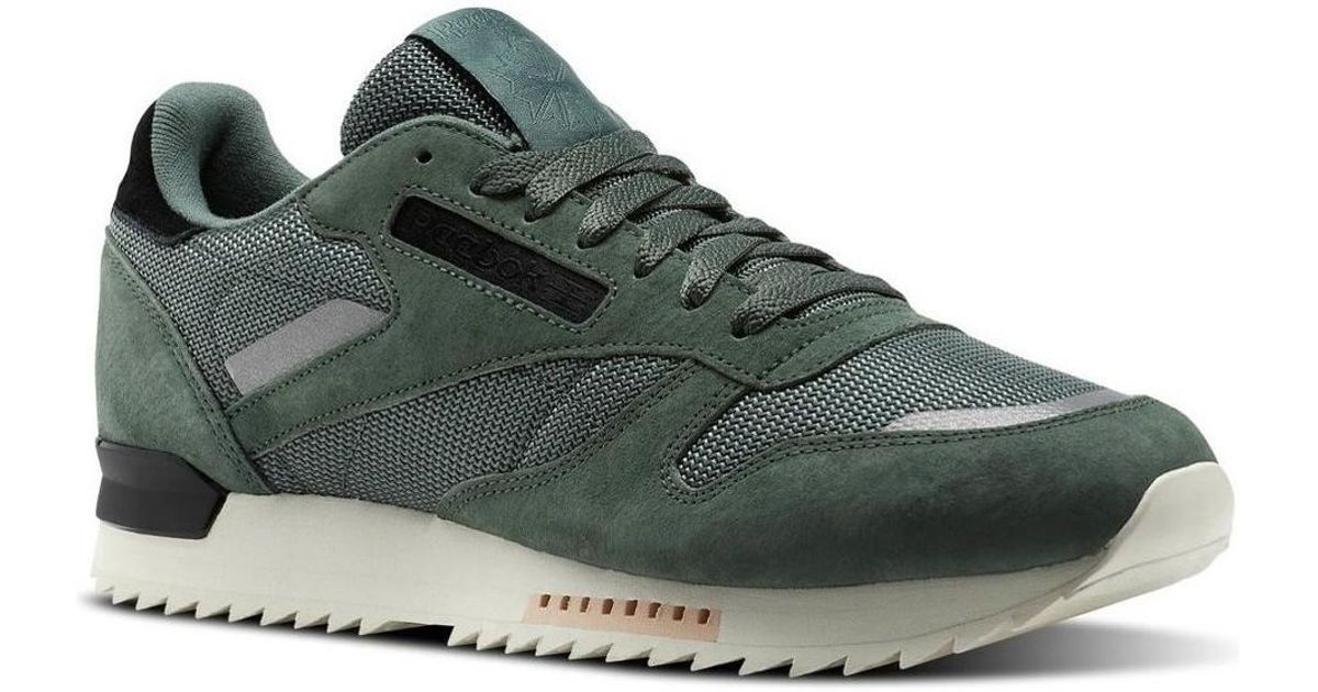 8d570086546700 Reebok Cl Leather Ripple S Men s Shoes (trainers) In Green in Green for Men  - Lyst