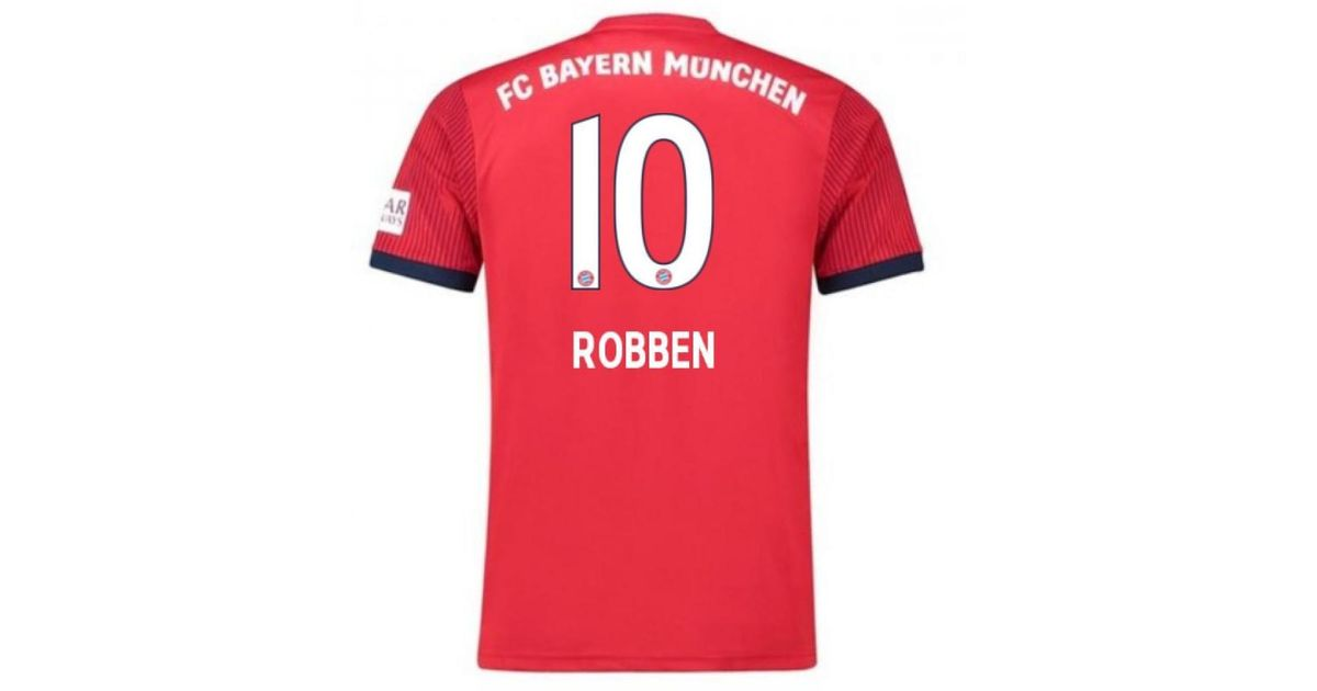 Adidas 2018-2019 Bayern Munich Home Football Shirt (robben 10) Men s T Shirt  In Red in Red for Men - Lyst 27b101ef0