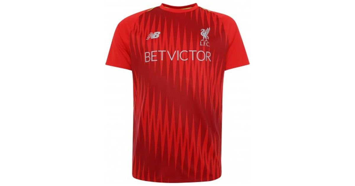 new style 494b3 77ebc New Balance 2018-2019 Liverpool Elite Pre-match Training Shirt Men's T  Shirt In Red for men
