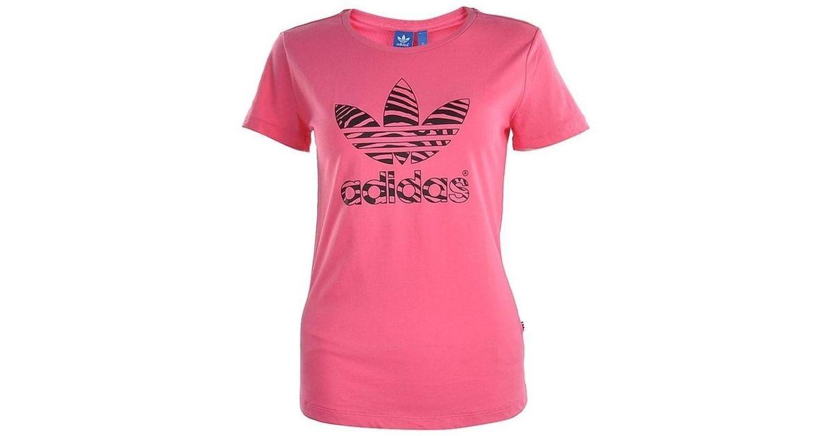 cf0f269dd79 Shirt Tee Adidas Women's Lyst Pink In T Trefoil N8Ovwm0n