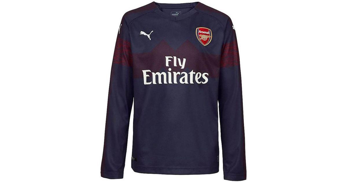 cheap for discount c3a24 0a55d PUMA 2018-2019 Arsenal Away Long Sleeve Shirt Women's In Blue for men