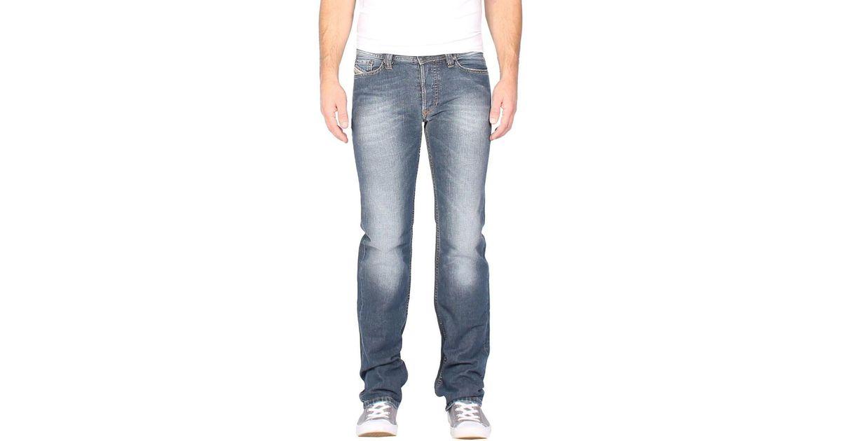 9c619abc DIESEL - Men's Jeans Viker Rk08 - Regular Straight Men's Skinny Jeans In  Blue in Blue for Men - Lyst