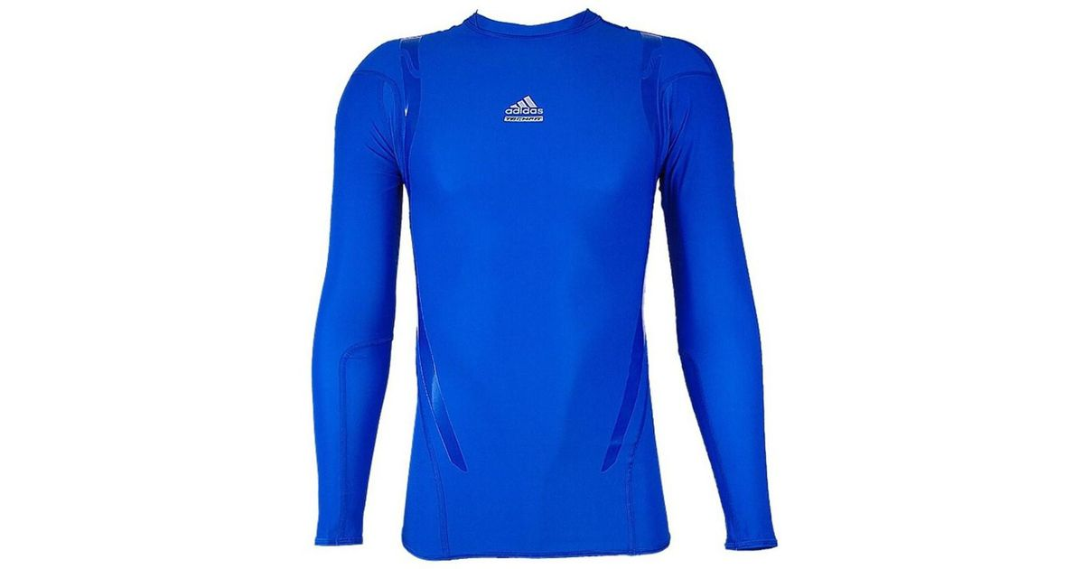 ee897cd62e Adidas Techfit Powerweb Long Sleeve Men's T Shirt In Blue for men
