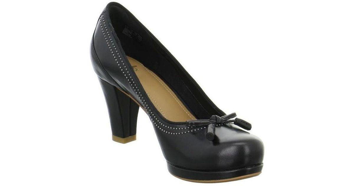 Clarks Chorus Bombay schwarz Damens's Court Schuhes In schwarz in schwarz Bombay Lyst 5ff0cb