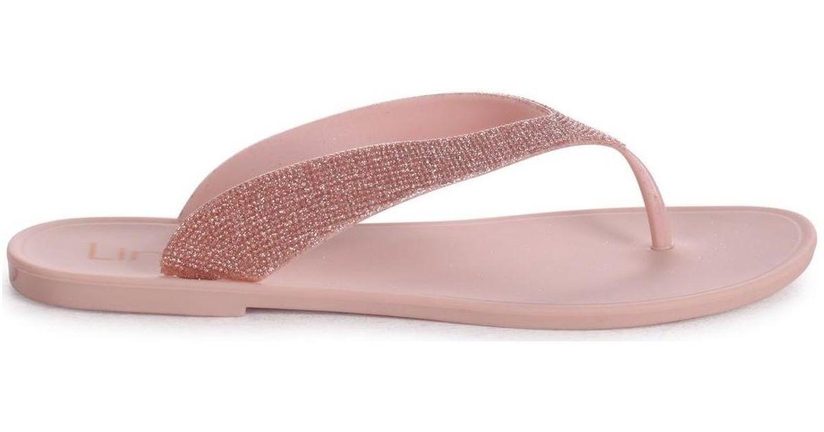 83885945f Linzi Orchid Women s Flip Flops   Sandals (shoes) In Beige in Natural - Lyst