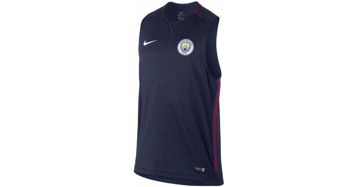 Nike 2017-2018 Man City Sleeveless Training Shirt Men s Vest Top In Blue in  Blue for Men - Lyst b437a542d