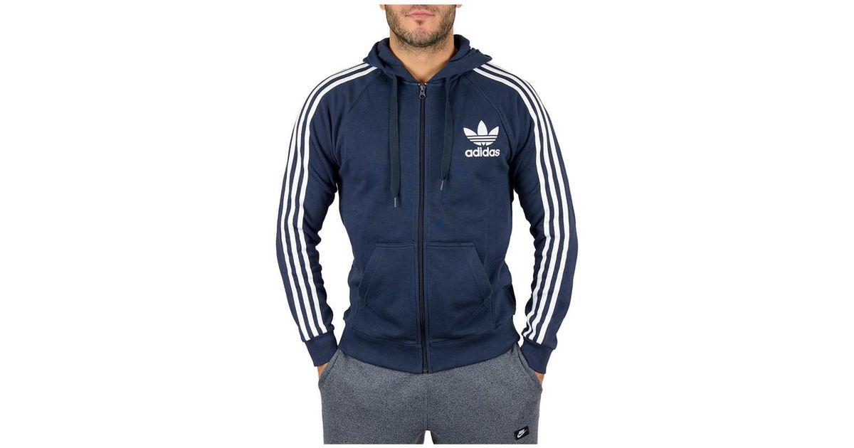 Honestidad evidencia harina  adidas Clfn Ft Fz (ay7788) Men's Sweatshirt In Blue for Men - Lyst