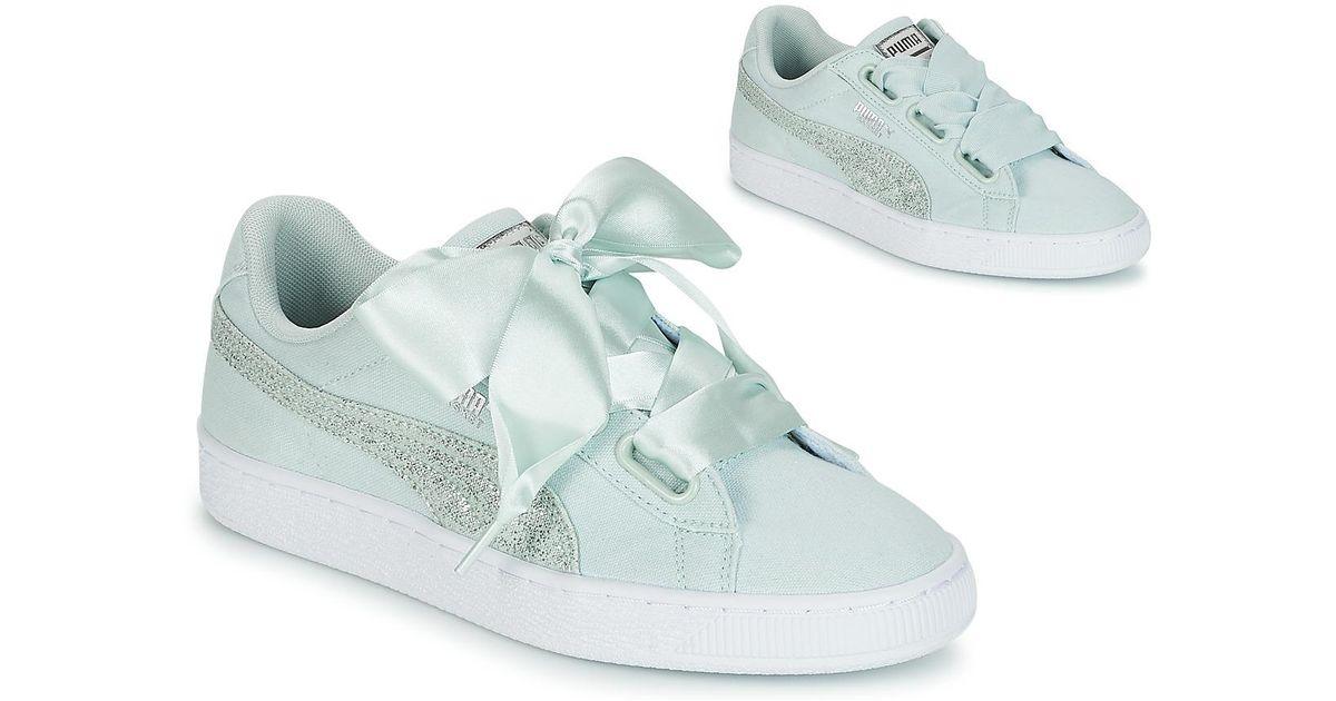 huge discount d3d2d c7193 PUMA Green Basket Heart Canvas W's Shoes (trainers)
