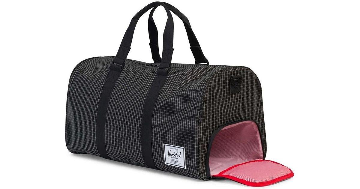 Herschel Supply Co Novel Duffle Bag Grid Black Men S Travel In For Lyst