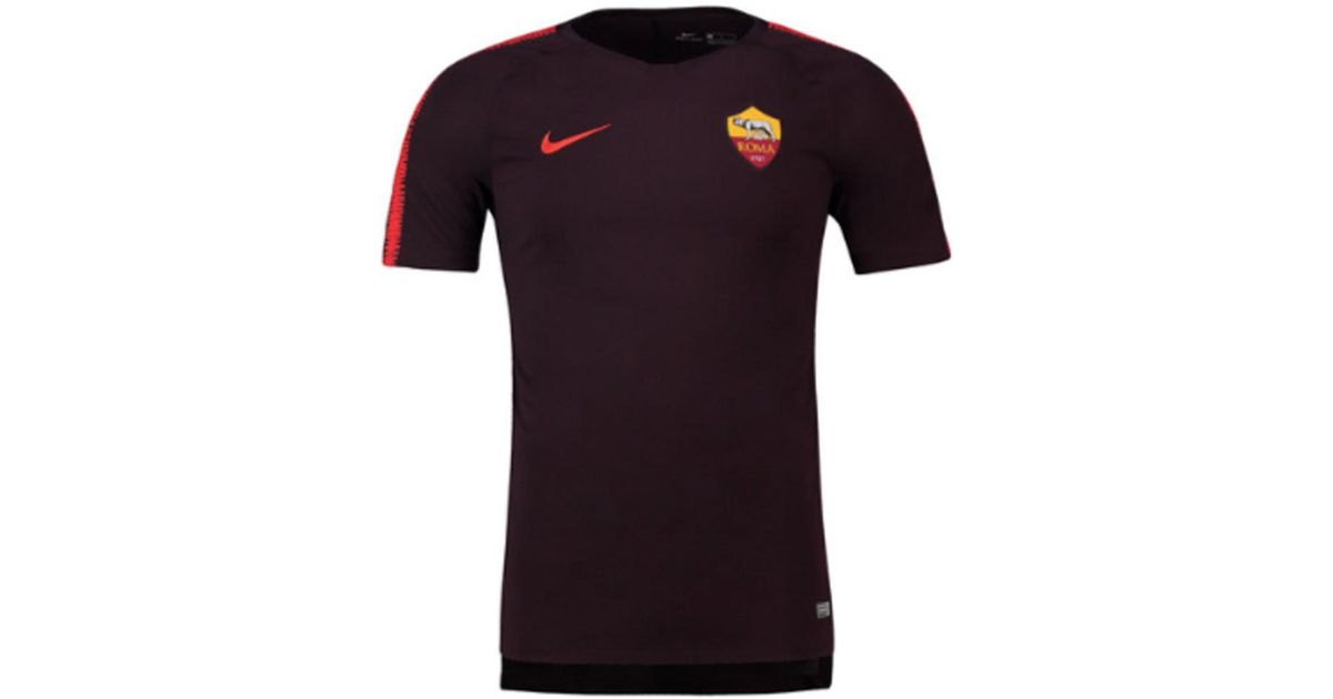 save off cf835 01574 Nike Black 2018-2019 As Roma Training Shirt Men's T Shirt In Other for men