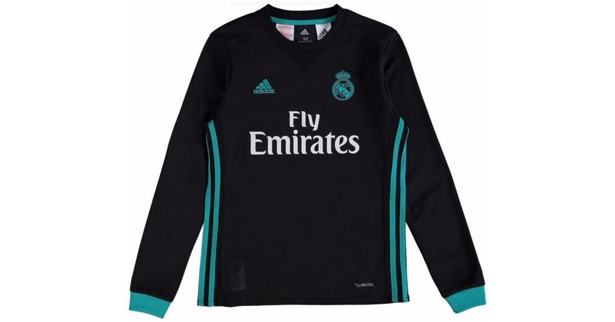 87b577d84 Adidas 2017-18 Real Madrid Away Long Sleeve Shirt - Kids (modric 10)  Women s In Black in Black - Lyst
