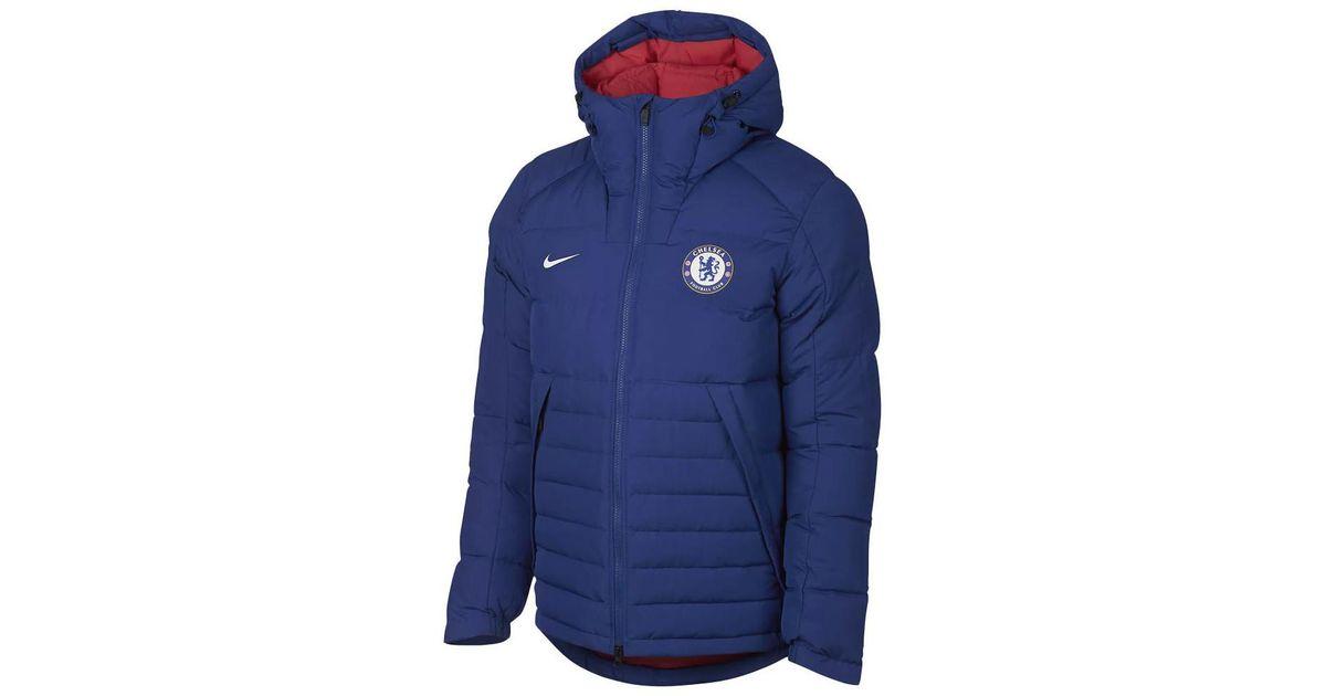 Nike Chelsea Fc Down Jacket In Blue For Men Lyst 1cc582915