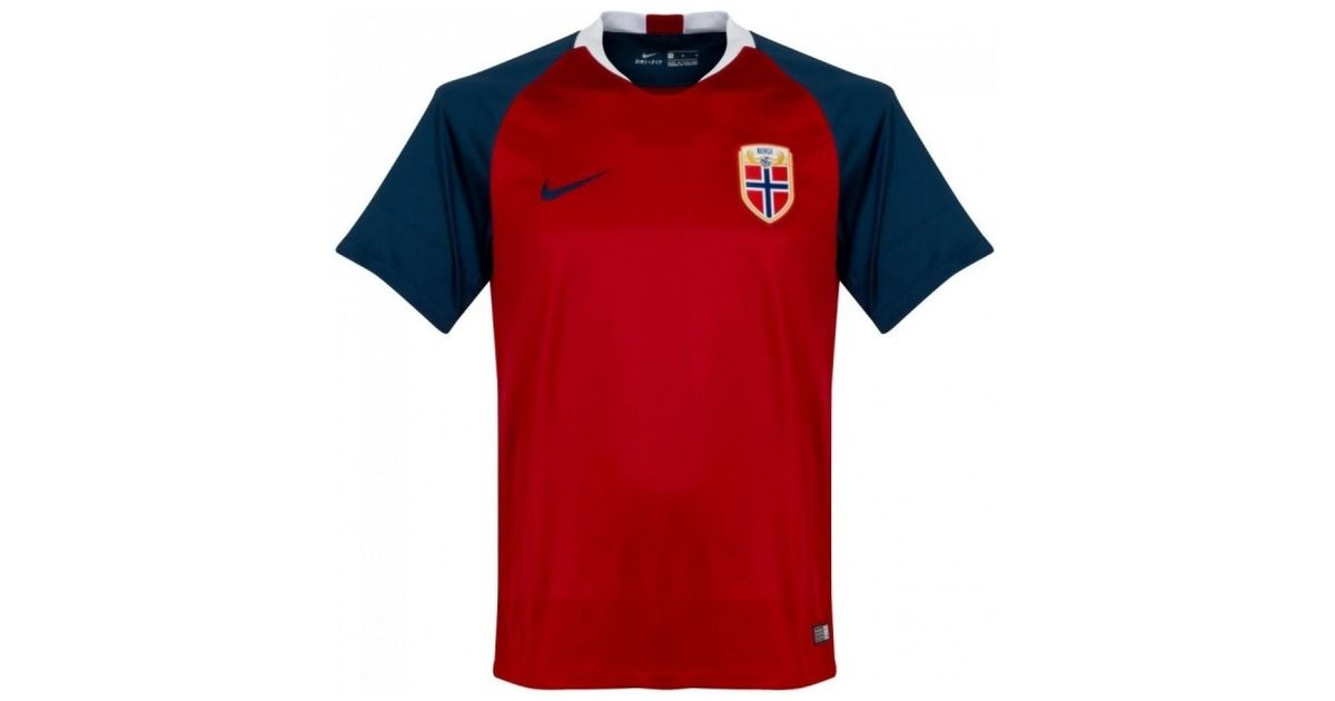 Men's In Red Nike T Home 2018 Norway Shirt Football 2019 4qUY4wv