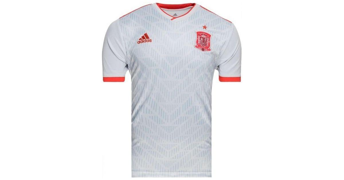 Adidas 2018 2019 Spain Away Football Shirt (kids) Men's T Shirt In White for men