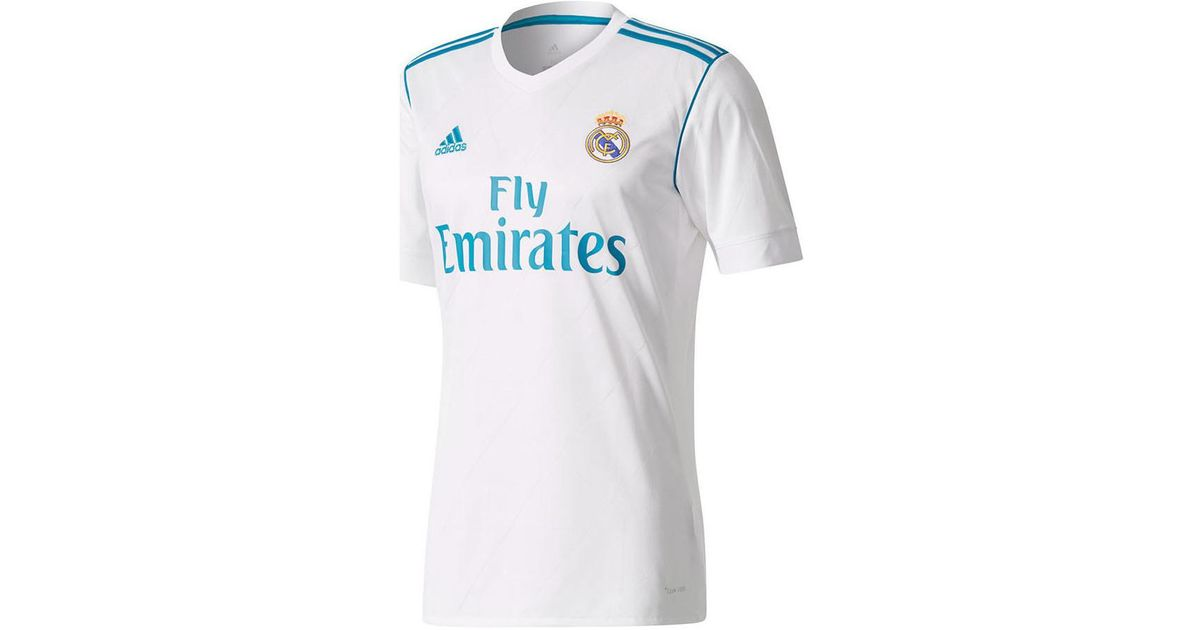 new arrival 58c07 fa32a Adidas 2017-18 Real Madrid Home Shirt (ronaldo 7) Men's T Shirt In White  for men