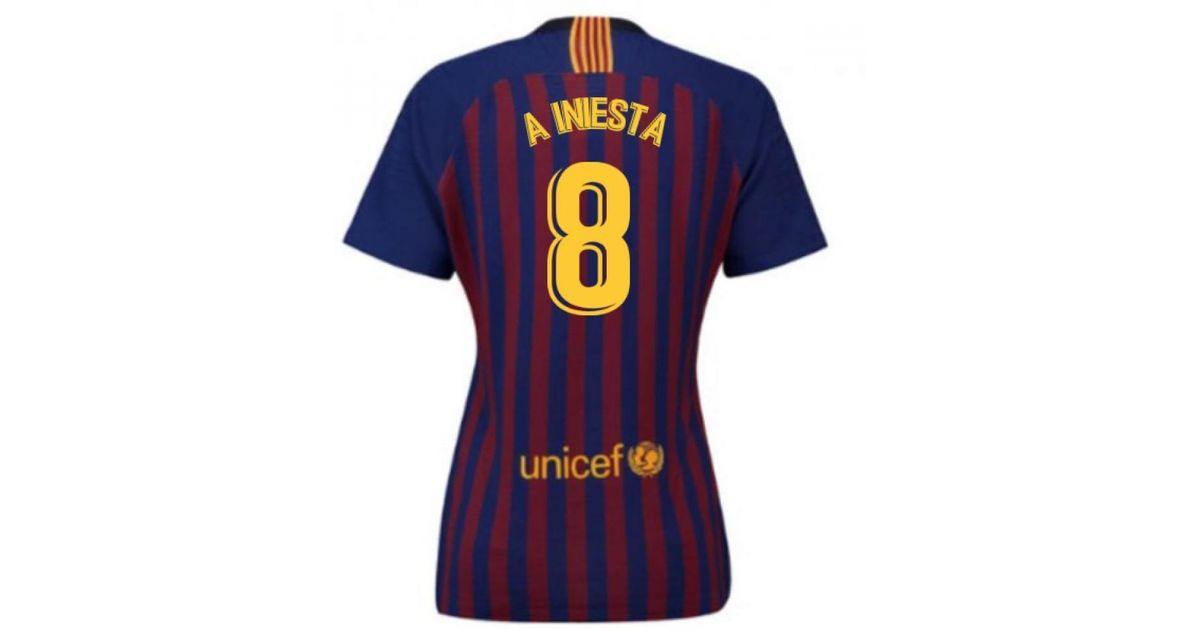 f02561c4caa Nike 2018-2019 Barcelona Home Ladies Shirt (a Iniesta 8) Men s T Shirt In  Red in Red for Men - Lyst