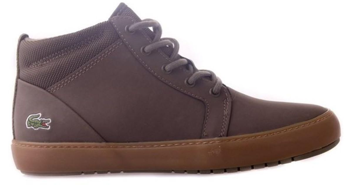 901cdd64c0 Lacoste Ampthill Chukka Women's Shoes (high-top Trainers) In Brown