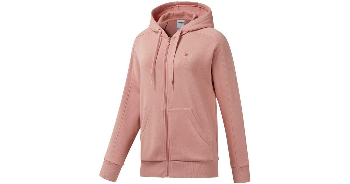 c72bd63ce2 Reebok F Fleece Fz Women's Sweatshirt In Pink