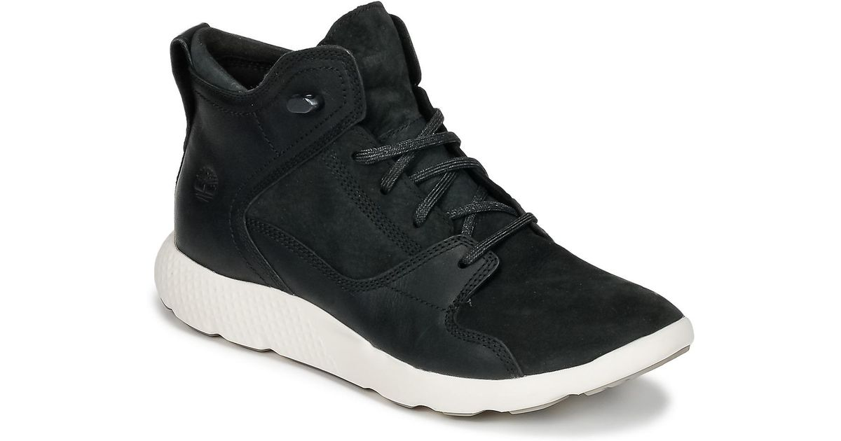 Timberland Flyroam Leather Hiker Men s Shoes (high-top Trainers) In Black  in Black for Men - Lyst 7f7e654bd6