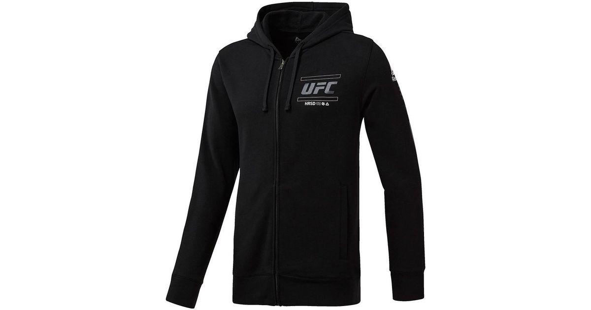 a3c2d6ae Reebok Ufc Fg Zip Hoodie Men's Sweatshirt In Black in Black for Men - Lyst