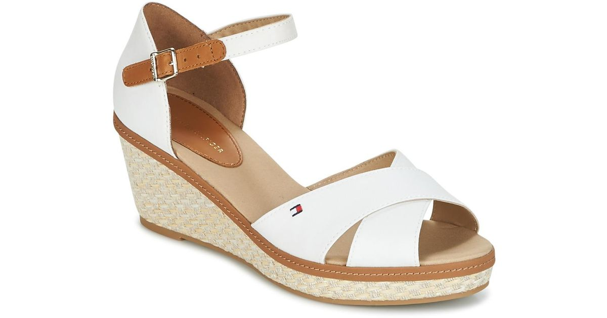 3479a860e Tommy Hilfiger Elba 40d Women s Sandals In White in White - Lyst
