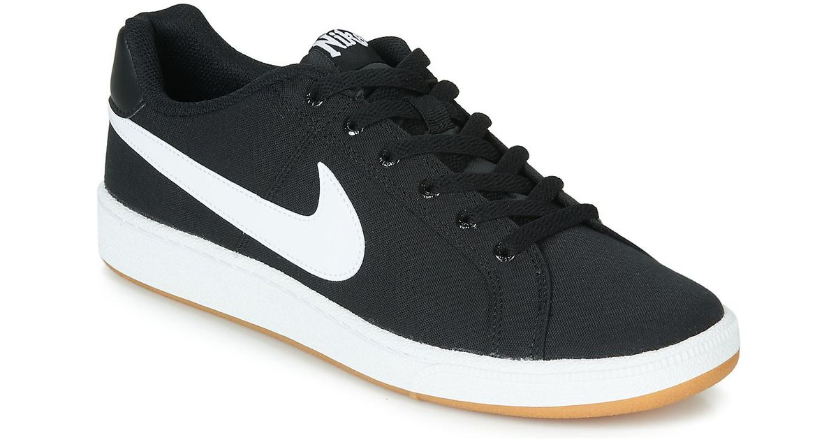 Nike Black Court Royale Canvas Shoes (trainers) for men