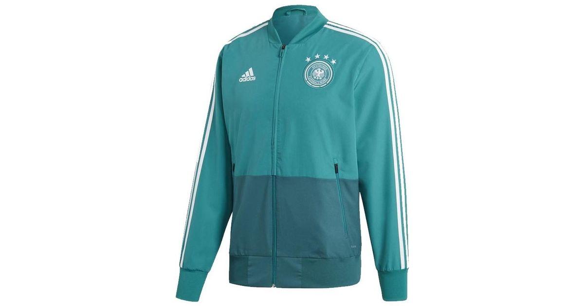 0672667e6a94 adidas 2018-2019 Germany Presentation Jacket Women s Sweatshirt In Green in  Green - Lyst