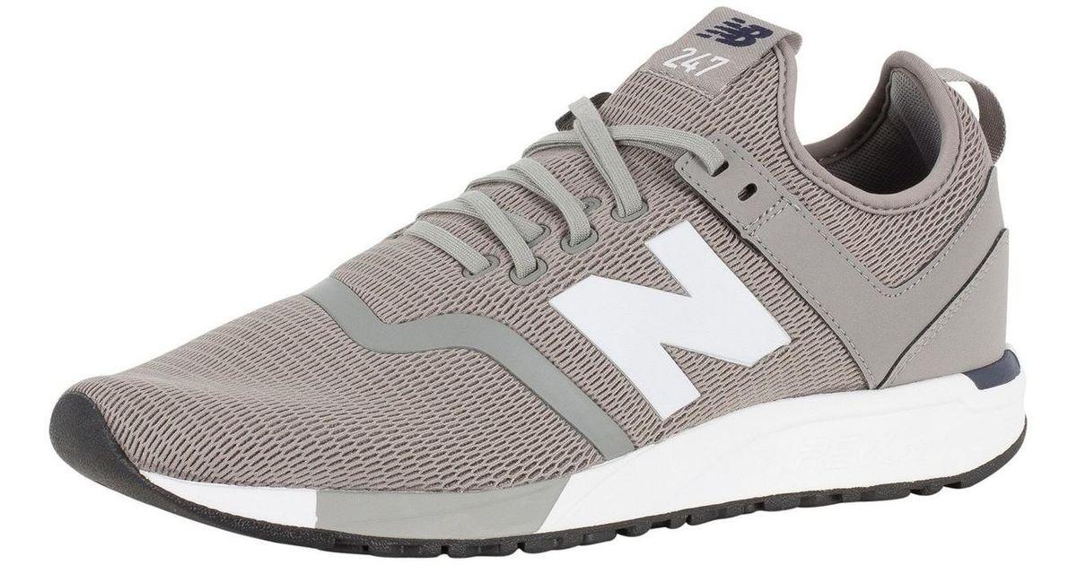 New Balance Gray Men's 247 Decon Trainers, Grey Men's In Grey for men